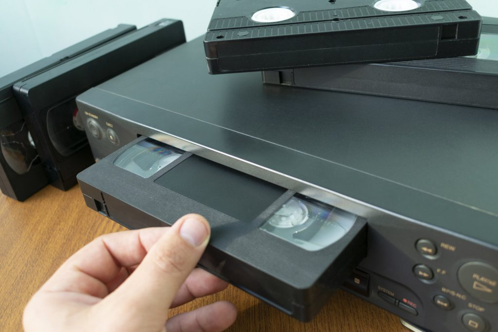 VHS in a VHS Player