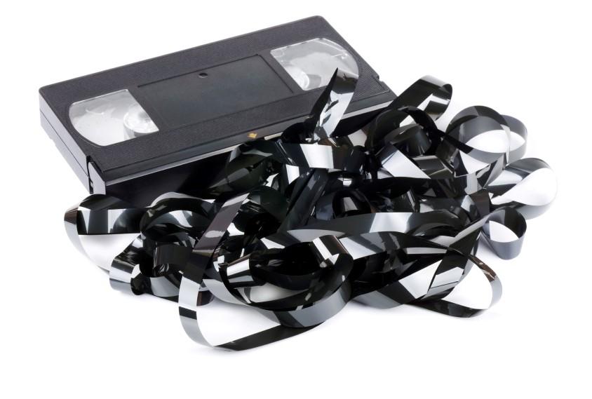Broken VHS Tape